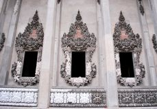 Church decoration. Thai church decoration wall and window stock image
