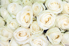 Church decoration with white roses Royalty Free Stock Photos