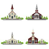 Church Decorative Flat Icon Set Royalty Free Stock Photos