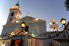 Church dedicated to Nuestra Segnora del Pilar. BUENOS AIRES ARGENTINA NOV. 22: Recoleta church dedicated to Nuestra Segnora del Pilar with a cemetery attached Stock Image