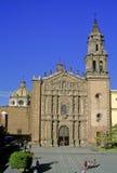 Church del Carmen. The baroque facade of church del Carmen at San Luis Potosi royalty free stock image