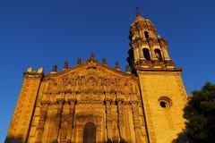 Church del carmen II. Baroque facade of church del Carmen at san luis potosi city, mexico Stock Photography