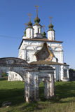 Church of Demetrios of Soluneia and the remains of the church fence gate in Dymkovo Sloboda Veliky Ustyug Stock Photography
