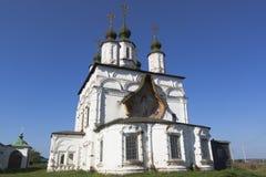 Church of Demetrius of Thessaloniki in Dymkovo Sloboda of Veliky Ustyug Royalty Free Stock Images