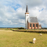 Church of Den Hoorn on Texel, Netherlands Stock Photos