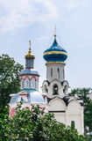 The Church of the Descent of the Holy Spirit. Assumption fount he chapel. Holy Trinity St. Sergius Lavra Royalty Free Stock Photo
