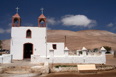 Church In The Desert. Small church on the way to Lauca National Park in northern Chile stock photography