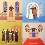 Church 2x2 Design Concept Royalty Free Stock Photography