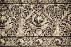 Church detail. Detail from the cathedral in Orastie, Romania stock image