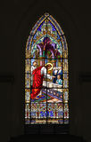 Church detail of stained glass window Stock Photography