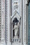 Church. Details of Basilica of Santa Maria del Fiore (Basilica of Saint Mary of the Flower) in Florence, Italy Royalty Free Stock Image
