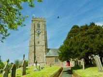 A church in Devon. St Swithuns church Woodbury Devon England united kingdom stock image