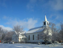 Church in Dexter. Small town church in Dexter, Michigan in January Royalty Free Stock Photography