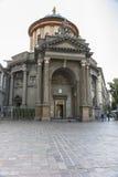 Church di Santa Maria, Bergamo, Italy. Torre dei Caduti Tower of the Fallen, Bergamo, Italy , Europe . Lower town Stock Images