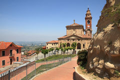 Church of Diano D'Alba in Piedmont, Italy Stock Image