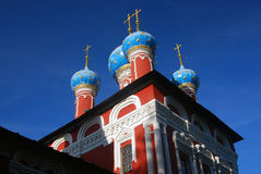 Church of Dimitry on Blood. Kremlin in Uglich. Royalty Free Stock Photo