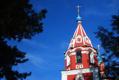 Church of Dimitry on Blood. Kremlin in Uglich. Royalty Free Stock Images