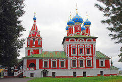 Church of Dimitry on Blood. Kremlin in Uglich. Stock Image