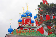 Church of Dimitry on Blood. Kremlin in Uglich. Royalty Free Stock Image