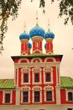 Church of Dimitry on Blood. Kremlin in Uglich. Sepia tone photo. Royalty Free Stock Image