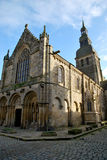The church of Dinan. Tourism medieval in Dinan, France Royalty Free Stock Images