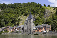 Church in Dinant, Belgium. Walloon region Royalty Free Stock Images