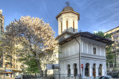 The church St. Nicholas Dintr-o zi stock images