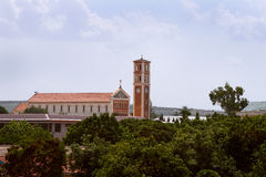 The church in Dodoma town (Tanzania) royalty free stock photo