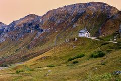 Church in Dolomites, Italy Royalty Free Stock Photos