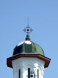 Church dome. Christian church dome on blue sky Royalty Free Stock Photography