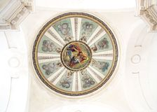 Church dome. View of a wonderful round church dome Royalty Free Stock Images