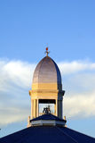 Church Dome. The dome of a church photographed against a cloudy blue sky royalty free stock images