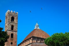 Church dome and bell tower Stock Photography