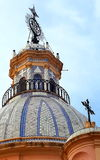 Church dome. Chriatian church dome with cross Stock Photos
