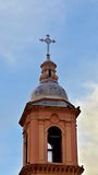 Church dome. Chriatian church dome with cross Stock Photography