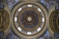 Church dome. The dome of a famous church in Rome stock photo