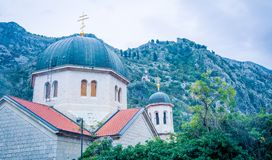 Church dome kotor Montenegro. Church dome in ancient kotor in Montenegro Stock Photos
