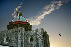 Church Dome Pigeons San Miguel Mexico Royalty Free Stock Image