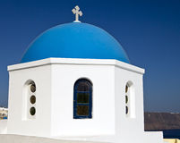 Church Dome On Santorini Royalty Free Stock Photography