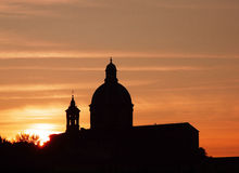 Church Dome Sunset, Italy royalty free stock images