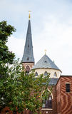 Church Dome and Tower in Portland royalty free stock image