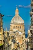 Church dome in Valetta, Malta Royalty Free Stock Photography