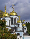 Church domes against Stock Image