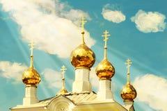 Church domes against the sky Royalty Free Stock Photos