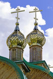 Church domes with crosses Royalty Free Stock Photography