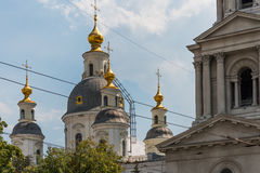 Church Domes. Gold domes of an orthodox church in kharkiv Royalty Free Stock Images