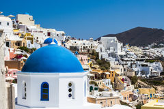 Church domes in Oia Santorini Royalty Free Stock Photo