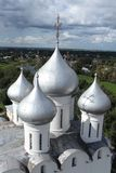 Church domes top view Royalty Free Stock Image
