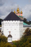 Church Domes in Trinity Sergius Lavra Stock Photos