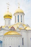 Church Domes in Trinity Sergius Lavra Stock Images
